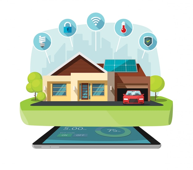 Illustrazione vettoriale di casa intelligente