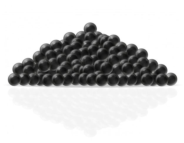 Illustrazione vettoriale di caviale nero