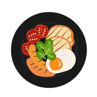 Illustrazione vettoriale di cibo per la colazione.
