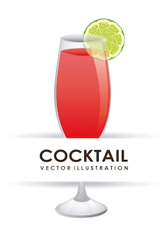 Illustrazione vettoriale di cocktail graphic design
