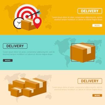 Illustrazione vettoriale di consegna design piatto