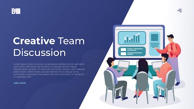 Illustrazione vettoriale di discussione del team
