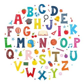 Illustrazione vettoriale di font concept design