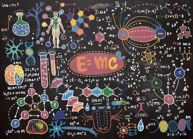 Illustrazione vettoriale di formule scientifiche e calcoli