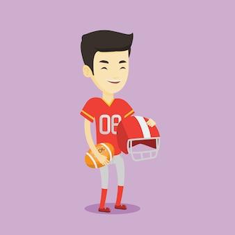 Illustrazione vettoriale di giocatore di rugby.