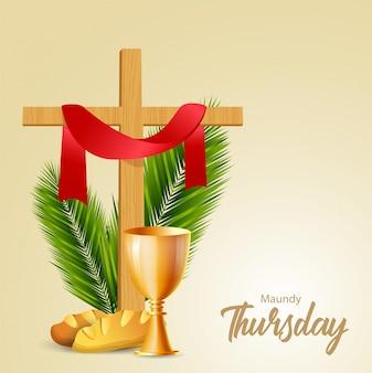 Illustrazione vettoriale di giovedì santo