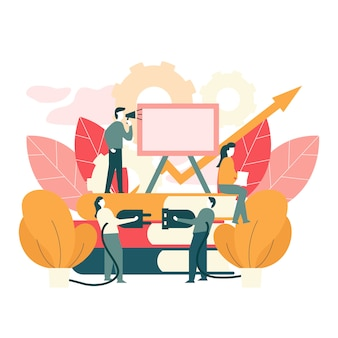 Illustrazione vettoriale di lavoro di squadra