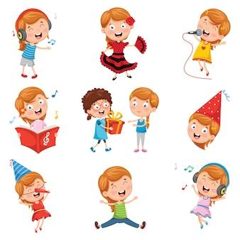 Illustrazione vettoriale di little party girl