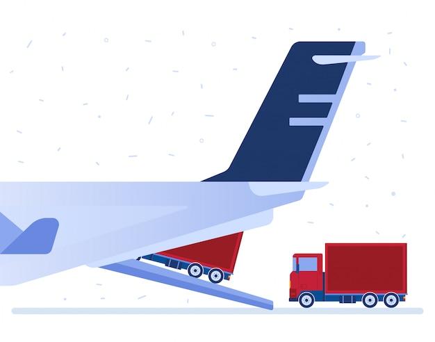 Illustrazione vettoriale di logistica aerea.