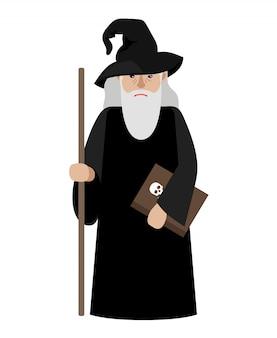 Illustrazione vettoriale di mago dei cartoni animati