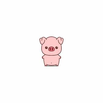 Illustrazione vettoriale di maiale carino icona