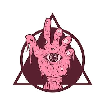 Illustrazione vettoriale di mano zombie