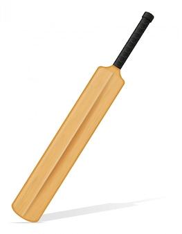 Illustrazione vettoriale di mazza da cricket