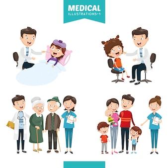 Illustrazione vettoriale di medica