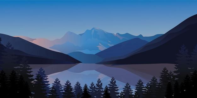 Illustrazione vettoriale di montagna moderna