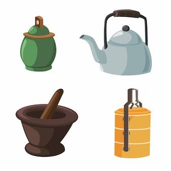 Illustrazione vettoriale di oggetti in casa
