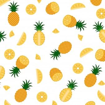 Illustrazione vettoriale di pattern di ananas