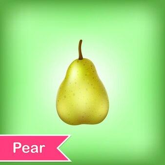 Illustrazione vettoriale di pera