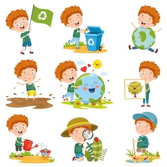 Illustrazione vettoriale di personaggio dei cartoni animati