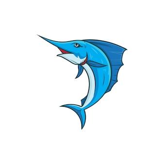 Illustrazione vettoriale di pesce marlin