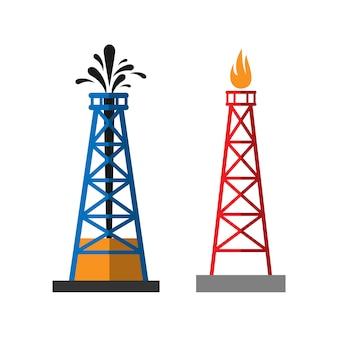 Illustrazione vettoriale di piattaforma di estrazione dell'olio