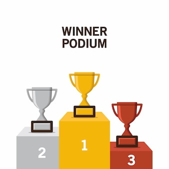 Illustrazione vettoriale di podio vincitore
