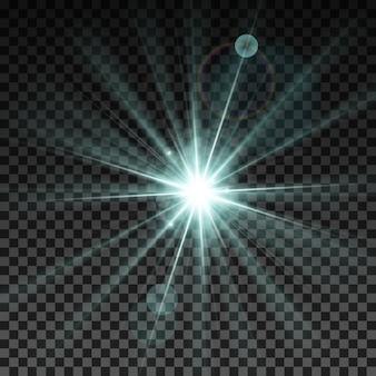 Illustrazione vettoriale di scintilla di illuminazione