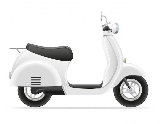 Illustrazione vettoriale di scooter retrò