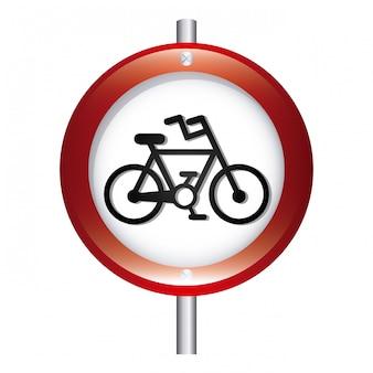 Illustrazione vettoriale di segnale grafico bicicletta segnale