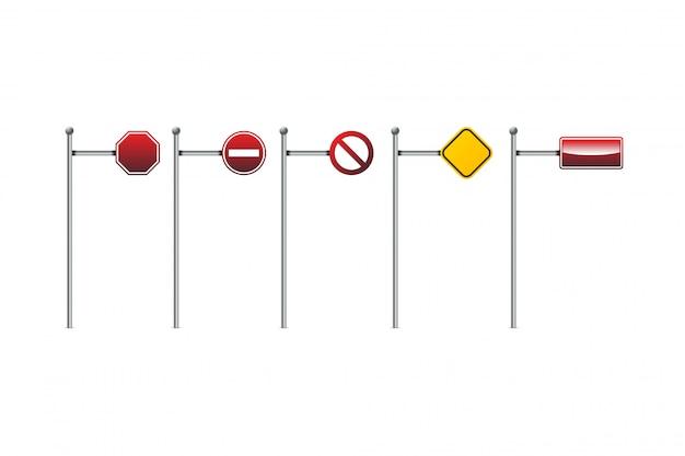 Illustrazione vettoriale di segnali stradali.
