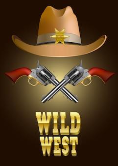 Illustrazione vettoriale di selvaggio west