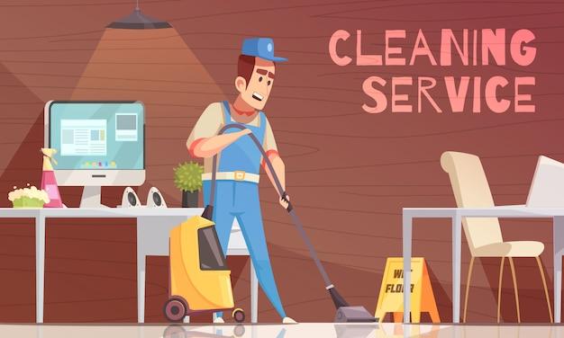 Illustrazione vettoriale di servizio di pulizia