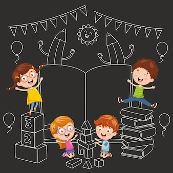 Illustrazione vettoriale di sfondo di educazione