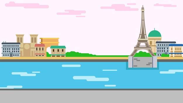 Illustrazione vettoriale di sfondo parigi