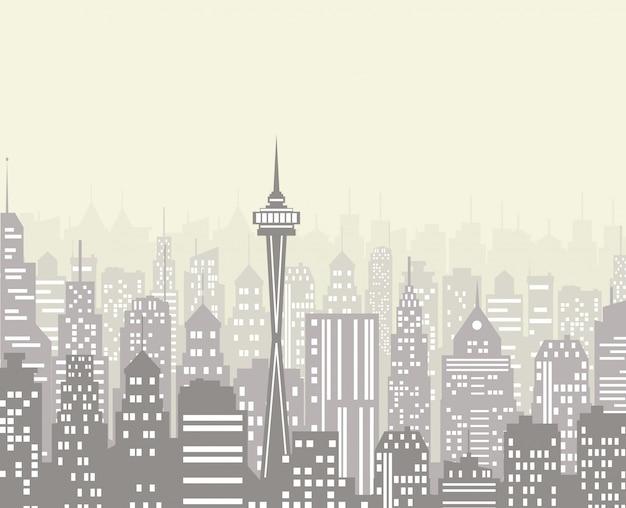 Illustrazione vettoriale di skyline della città