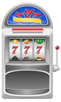 Illustrazione vettoriale di slot machine