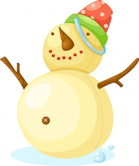 Illustrazione vettoriale di snow man