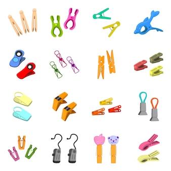 Illustrazione vettoriale di strumento e tenere premuto icona. collezione di utensili e set per la casa