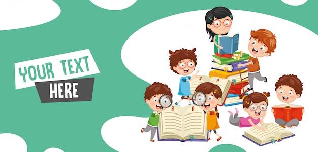 Illustrazione vettoriale di studenti