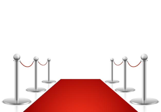 Illustrazione vettoriale di tappeto rosso. i premi mostrano lo sfondo