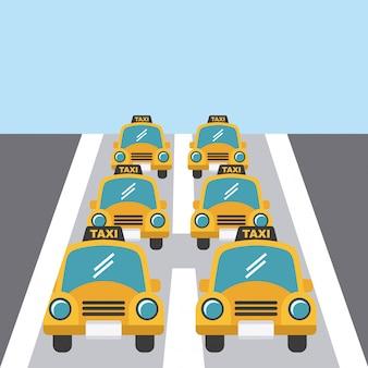 Illustrazione vettoriale di taxi design
