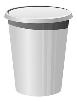 Illustrazione vettoriale di un bicchiere di plastica