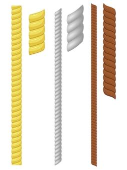 Illustrazione vettoriale di un set di corda
