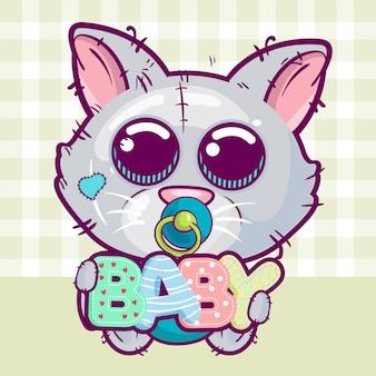Illustrazione vettoriale di un simpatico gatto