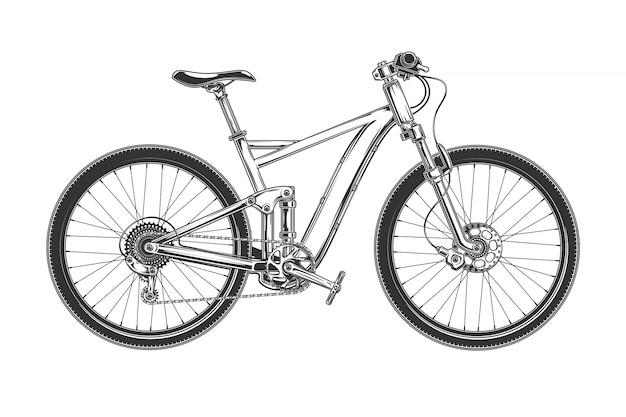 Illustrazione vettoriale di una bicicletta moderna