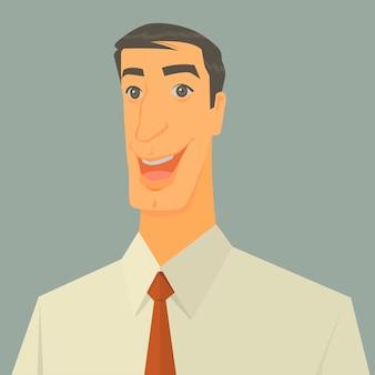 Illustrazione vettoriale di uomo d'affari eccitato