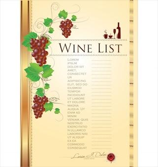 Illustrazione vettoriale di vino carta
