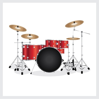 Illustrazione vettoriale drum set