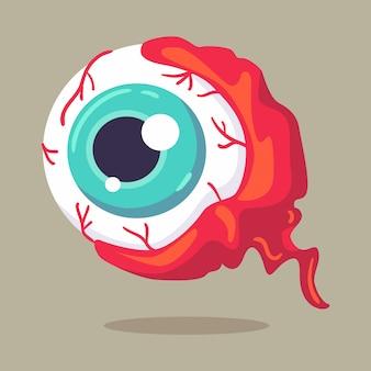Illustrazione vettoriale halloween character monster eye