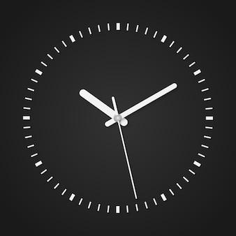 Illustrazione vettoriale in bianco e nero di orologio analogico vintage